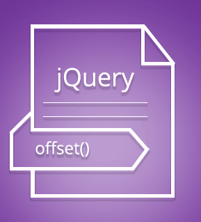 offset() method in jQuery with detailed examples