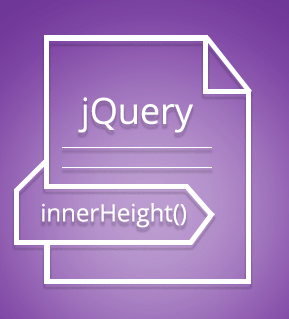 innerHeight() method in jQuery with detailed examples
