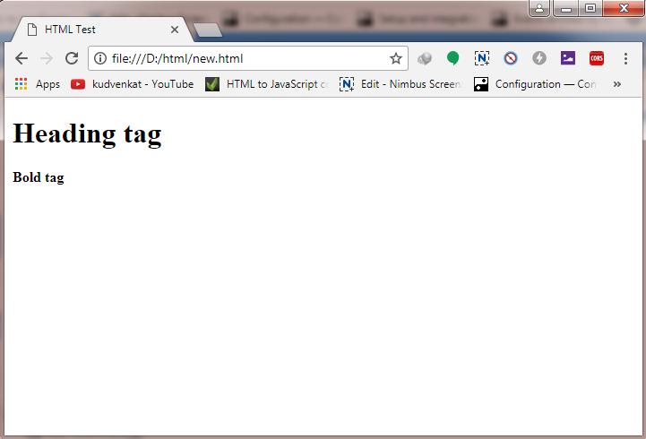 html file output